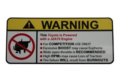 Toyota JZA70 No Bull, Warning decal, sticker