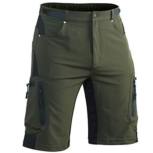 Hiauspor Men-Hiking-Climbing-Cargo-Shorts-Short (Green01, L(Waist:30.5