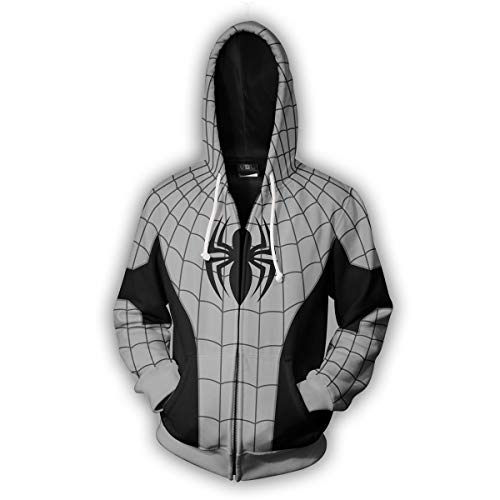 Price comparison product image Gurbanton Spiderman Hoodie Unisex Adult Superhero Costume Sweatshirt with Zipper for Halloween Holiday Cosplay (Spider H, Adult Medium)