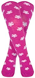 JoJo Maman Bebe Patterned Tights (Baby) - Raspberry Floral-6-12 Months