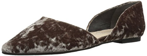 BC Footwear Women's Society Pointed Toe Flat, Grey, 6 M US