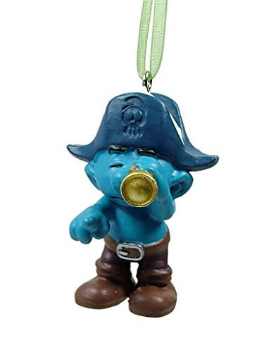 New Pirate Look Out Smurf Sailor Spyglass Tricorne Christmas Tree Ornament (Ornament Christmas Smurf)
