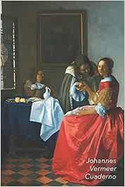Johannes Vermeer Cuaderno: Dama con dos Caballeros (Muchacha con Copa de Vino) | Ideal para la Escuela, el Estudio, Recetas o Contraseñas | Perfecto Para Tomar Notas | Diario Elegante