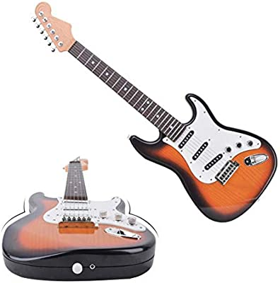 Zexa - Guitarra eléctrica de Juguete con 6 Cuerdas para niños ...