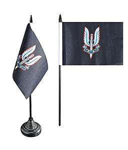 Digni Bandera de mesa de gran bretaña ejército británico Servicio aéreo especial + libre Adhesivo