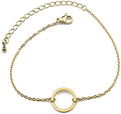 Minimalism Link Foot Chain for Women Open Circle Anklet Bracelet