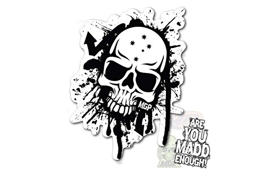 Mgp Black / White Skull Sticker(202-039) Madd