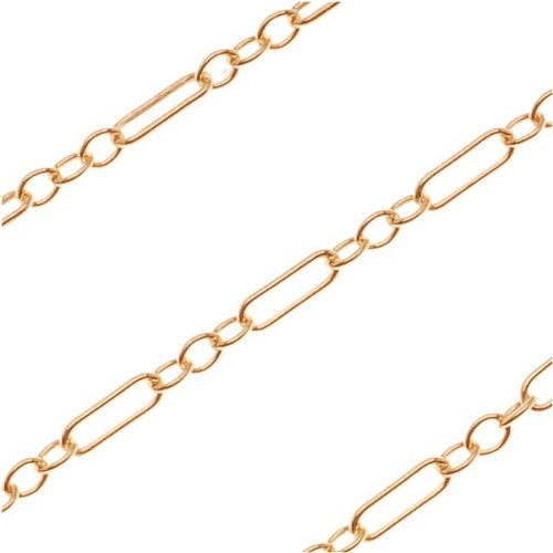 Beadaholique 14/20 Gold Filled Delicate Long/Short Chain by The Foot