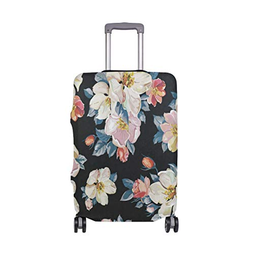 Suitcase Cover Vintage Floral Flowers Luggage Cover Travel Case Bag Protector for Kid Girls