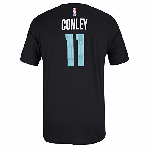 Mike Conley Memphis Grizzlies NBA Adidas Men Black Official Player Name & Number Jersey T-Shirt (XL) (Adidas Player Mens Tee Nba)