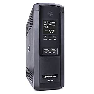 CyberPower BRG1500AVRLCD UPS 1500VA/900W 12 Outlets AVR LCD USB Ports Mini Tower, 5 Year Warranty
