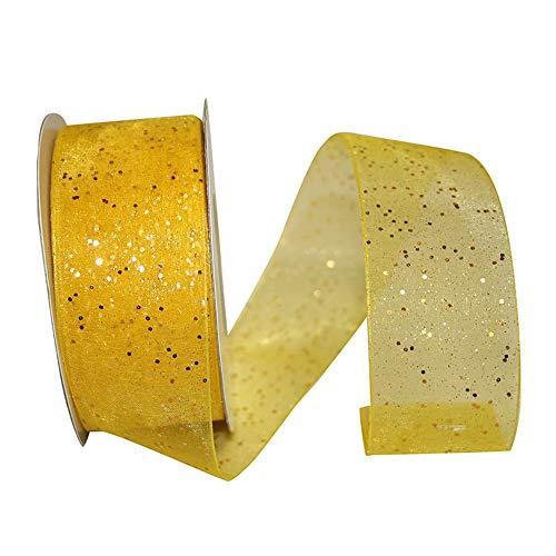 - JAM PAPER Sheer Glitter Ribbon - 25 Yards - 1 1/2