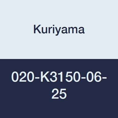020 Yarn (Kuriyama 020-K3150-06-25 CLEARBRAID K3150 Series RF Standard Wall Clear Yarn Reinforced PVC Food and Beverage Hose, 3/8