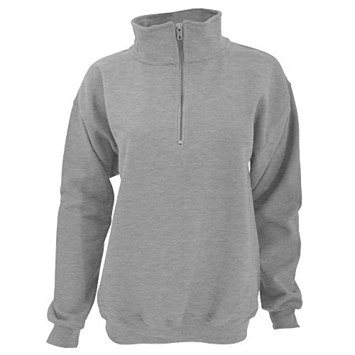Gildan Adult Vintage 1/4 Zip Sweatshirt Top (S) (Sport Grey)