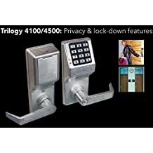 Alarm Lock DL4100 Trilogy Digital Keypad Privacy Lock (Standard Cylinder)
