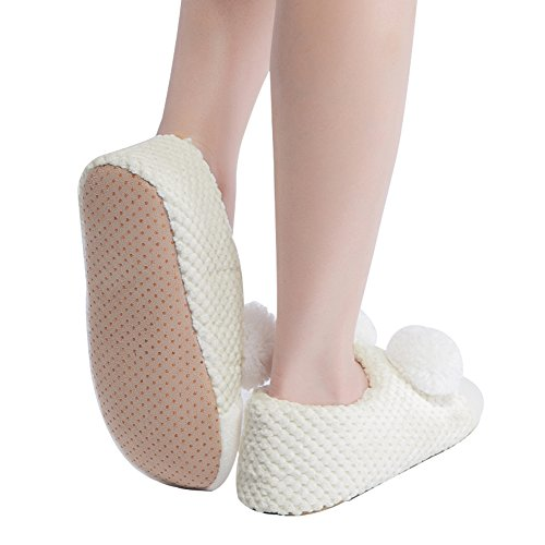 MaaMgic Womens Fuzzy Christmas Animal House Slippers Ladies Cute Bedroom Indoor Knit Winter Slippers Hys7129 Beige dt1092tOy2