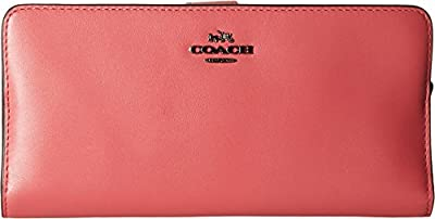 COACH Womens Madison Leather Skinny Wallet