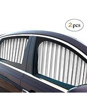 ZATOOTO zijraam zonneschermen voor auto (2 stuks), magnetisch autogordijn om UV-stralen te blokkeren en voor privacy, blauw