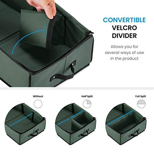 ZOBER Premium Wrap Organizer, Interior Pockets, fits 18-24 Standers Rolls, Underbed Storage, Wrapping Paper Storage Box…