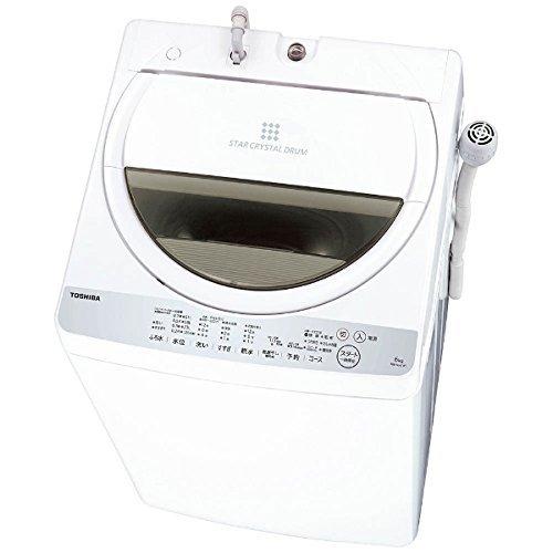 東芝 全自動洗濯機 6kg グランホワイト AW-6G6 W