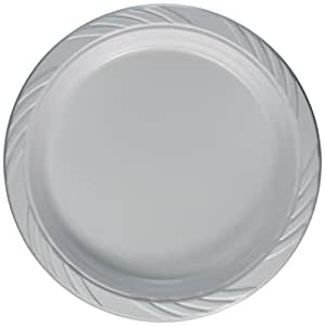 Blue Sky 100 Count Disposable Plastic Plates 9-Inch White  sc 1 st  Amazon.com & Amazon.com: Blue Sky 100 Count Disposable Plastic Plates 9-Inch ...