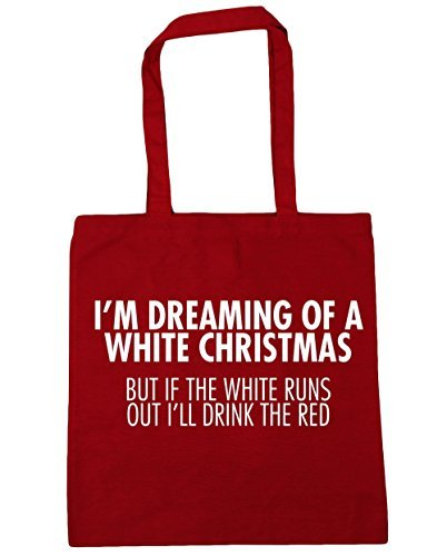 Out But Bag Dreaming The Gym Classic I'll HippoWarehouse Drink If Beach White 42cm a Runs x38cm The Tote Christmas White Red litres 10 Shopping of I'm Red UYWwxwP5Rq