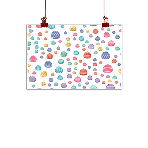 Mannwarehouse Art Oil Paintings Easter Seamless Pattern Colored Eggs with Geometric Patterns can be Used for Wrapping Paper as Background Wallpaper Canvas Prints for Home Decorations 28