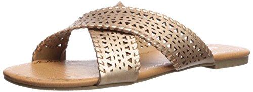 Report Women's Glaine Flat Sandal, Rose Gold, 6 Medium US (Womens Shoes Flat Report)
