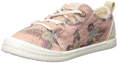 (Roxy Girls' RG Briana Slip On Sneaker Shoe, Light Pink 1 M US Little Kid)