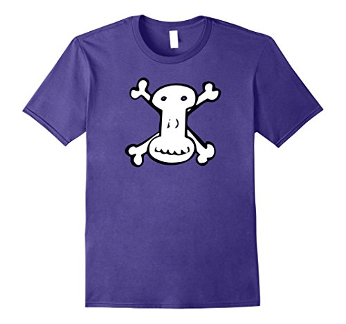 Mens Rock & Roll T Shirts - Strange Funny Cross & Bones Skull Large Purple (2)