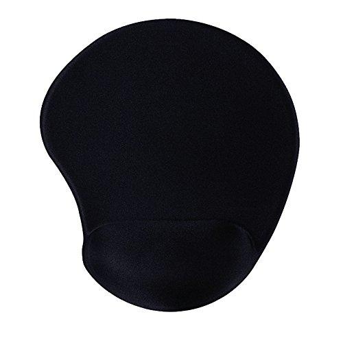 Ergonomic Mouse Pad with Wrist Support Protect Your Wrists Black Gel Mouse Pad with Wrist Rest for Laptop Desktop Non Slip Rubber Base