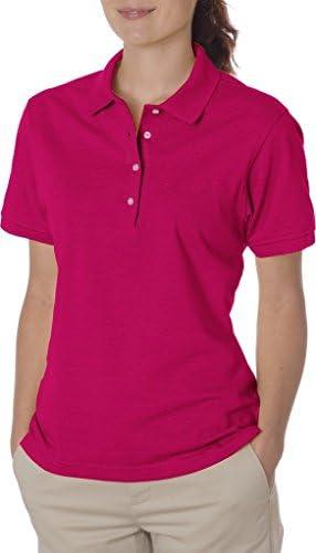 5.6 اونس خانمهای Jerzees Ladies ، 50/50 Jersey Polo با SpotShield 437W