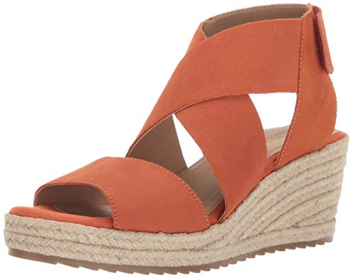 SOUL Naturalizer Women's OSHAY Sandal, ORANGE LEATHER, 8.5 M US ()