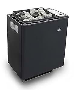 Eos Bi-O Mat - Caldera para sauna con vaporizador (7,5 kW), unidad de control 45H2 y piedras