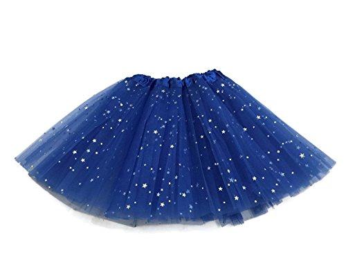 Rush Dance Ballerina Girls Dress-Up Sparkling Stars Sequins Costume Recital Tutu (Kids (2-8 Years Old), Royal Blue)