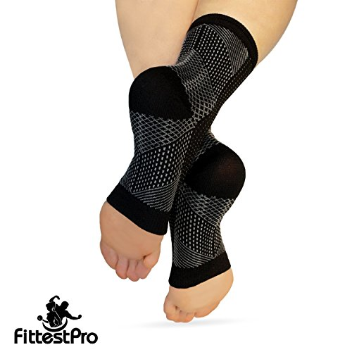 Fittest Pro Foot Sleeve, Plantar Fasciitis Heel Protectors, Arch Support Therapy Wrap, Cushioned Heel Support - Ankle Foot Pain Relief Sock Bundle (Pack of 8) (Small/Medium) by Fittest Pro (Image #8)