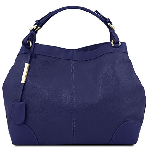 Tuscany Leather Ambrosia Soft leather bag with shoulder strap Dark Blue by Tuscany Leather