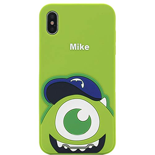 iPhone Xs Max Case, MC Fashion Cute Cartoon Monsters Case for Teens Girls Boys Women, Protective Shockproof Soft Silicone Rubber Case for Apple iPhone Xs Max (2018) 6.5-Inch (Mike)]()