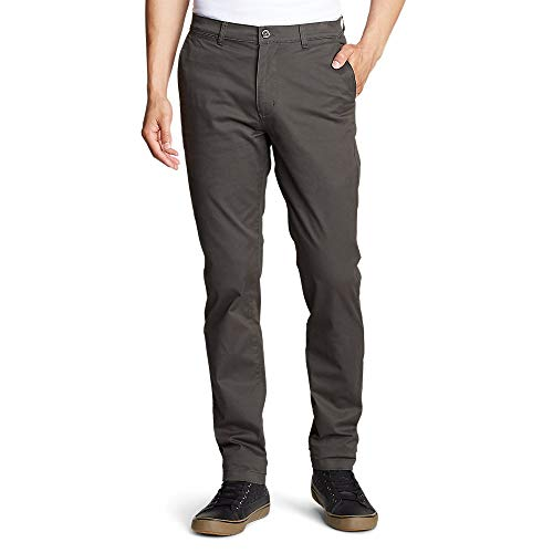 Eddie Bauer Men's Legend Wash Flex Chino Pants - Slim, Dk Slate Regular 34/30 (Eddie Bauer Pants)