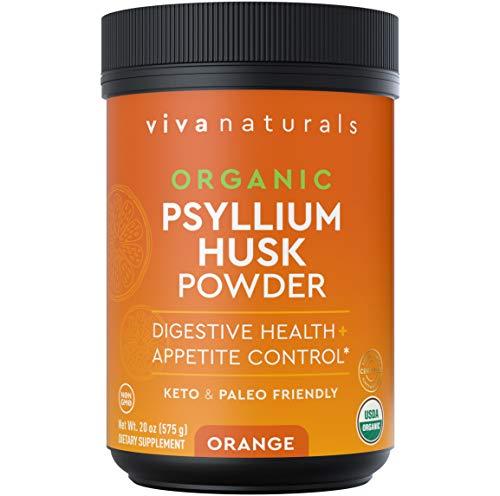 Organic Psyllium Husk Powder (Orange) – Finely Ground Psyllium Fiber Powder for Easy Mixing, Everyday Psyllium Fiber…