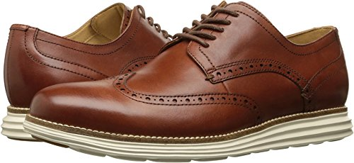 Cole Haan Men's Original Grand Shortwing Shoe, Woodbury Leather/Ivory, 9 W US