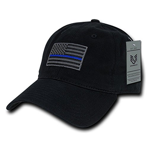 Rapid Dominance American Flag Embroidered Washed Cotton Baseball Cap - Black TBL]()