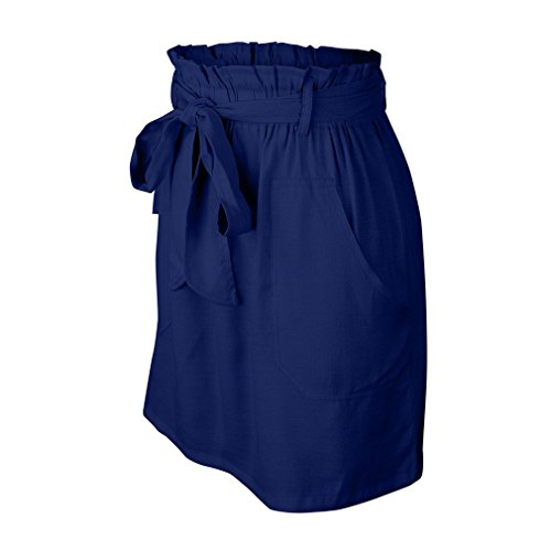 Longue Mi Yying Raye Ligne Fonc des Taille S Femmes Jupe XL Une Bleu Dcontract wq1n1FxRU