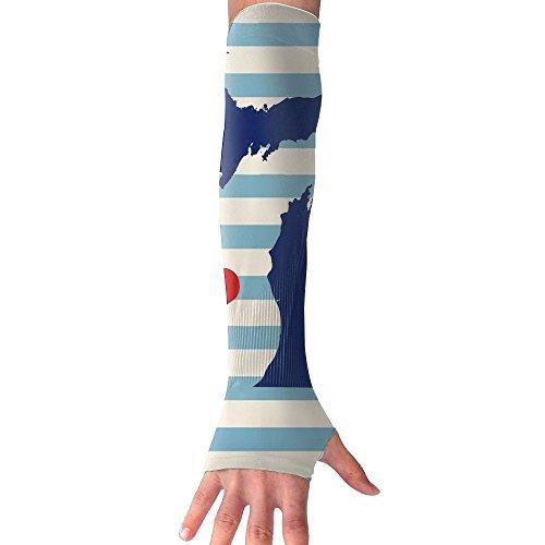 NUNOFOG I Love Michigan Unisex Summer Arm Cover Sleeves Long Fingerless Sun-proof Anti-UV Long Gloves For Outdoor by NUNOFOG