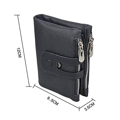 Wallet Theft 2 Leather Slim Wallet Purse PU Asnlove Style Double Premium Credit Card Case Wallet Unisex with Style Card Coin Credit Zip Purse Anti and Mini 3 Holder Rxq84Hnw