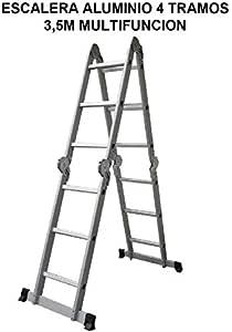 Escalera Aluminio 4 Tramos 3,5m Multifunción: Amazon.es: Bricolaje y herramientas