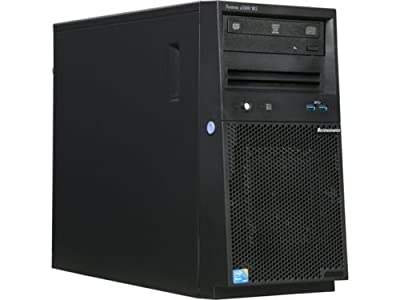 Lenovo System x3100 M5 4U ThinkServer Mini-Tower Server | Intel Xeon E3-1220 v3 3.10GHz Quad-Core | 8GB RAM (32GB Max) | 1TB HDD | DVD-RW | Matrox G200eR2