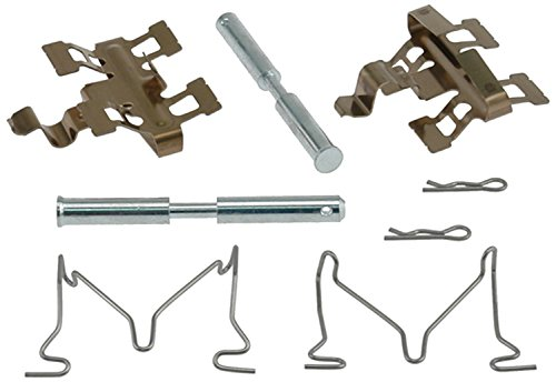 Brake Pad Pin Clip - ACDelco 18K1820X Professional Rear Disc Brake Caliper Hardware Kit with Clips, Springs, and Pins