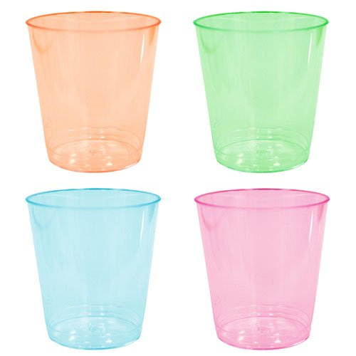 - Party Dimensions Neon 60 Count Plastic Tumblers, 2-Ounce