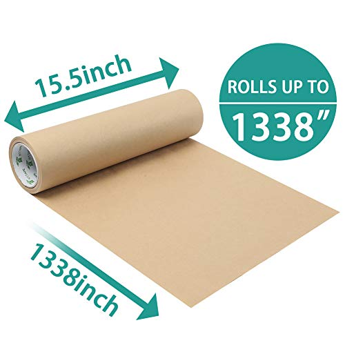 Koogel Kraft Paper,1338 inch Brown Craft Paper Kraft Paper Jumbo Roll Kraft Paper Roll for Gift Packaging Painting Home Decoration DIY Creation